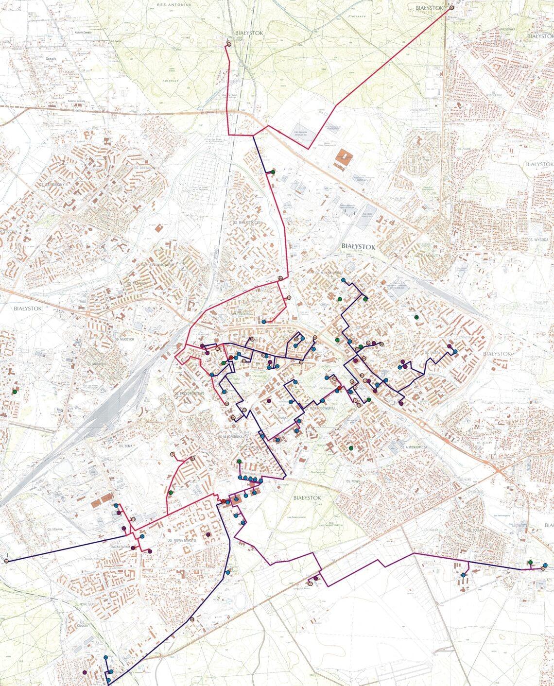 Szkielet sieci światłowodowej MSK BIAMAN w Białymstoku