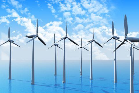 3D Wind turbines in ocean