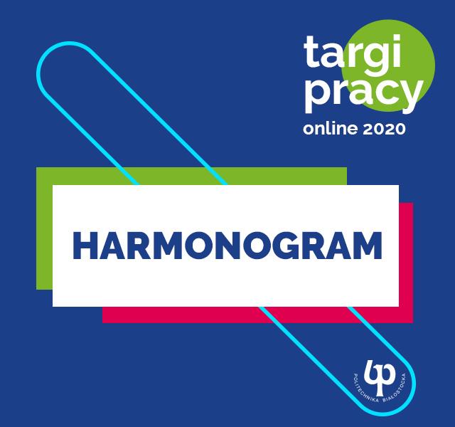 Targi pracy on-line PB 2020 - Harmonogram