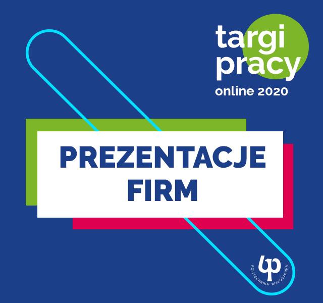 Targi pracy on-line 2020 PB - Prezentacja firm