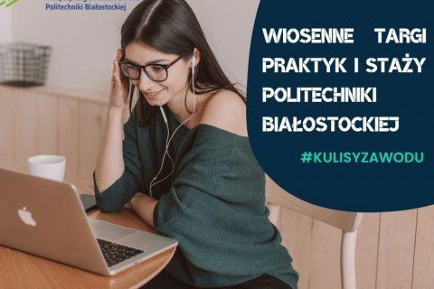 Młoda dziewczyna w okularach przy laptopie