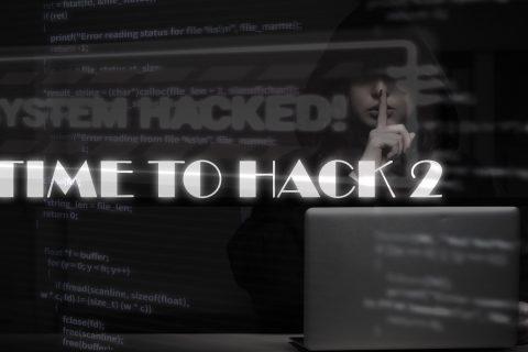 Tome to hack 2 biały napis na czarnym tle