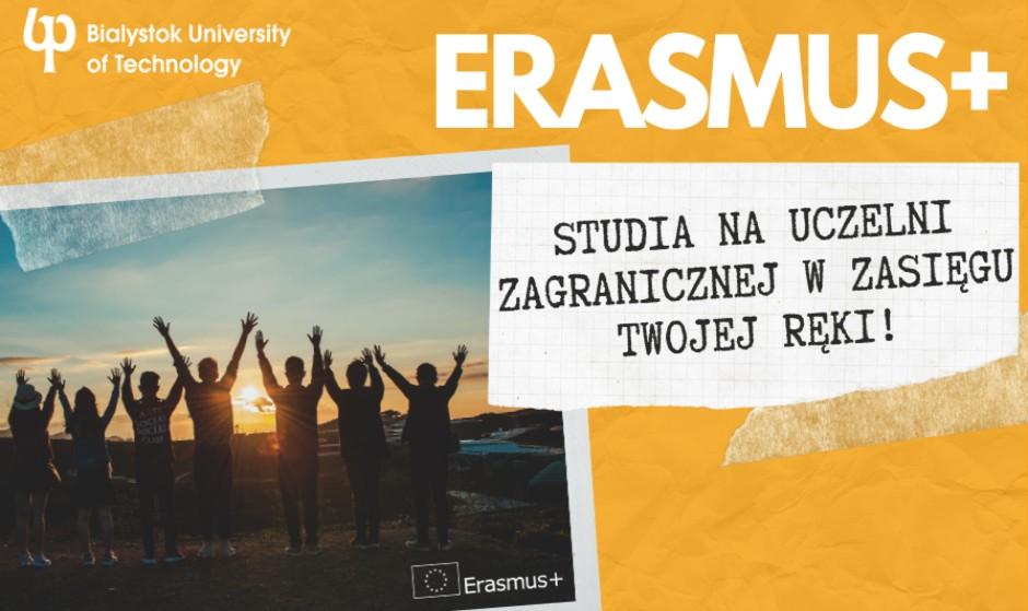 Plakat dotyczący rekrutacji do Programu Erasmus+