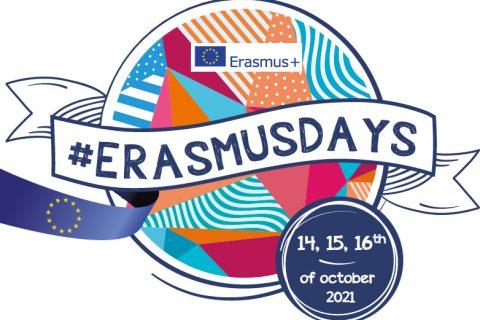 Logo ErasmusDays z datą 14-16.10.2021