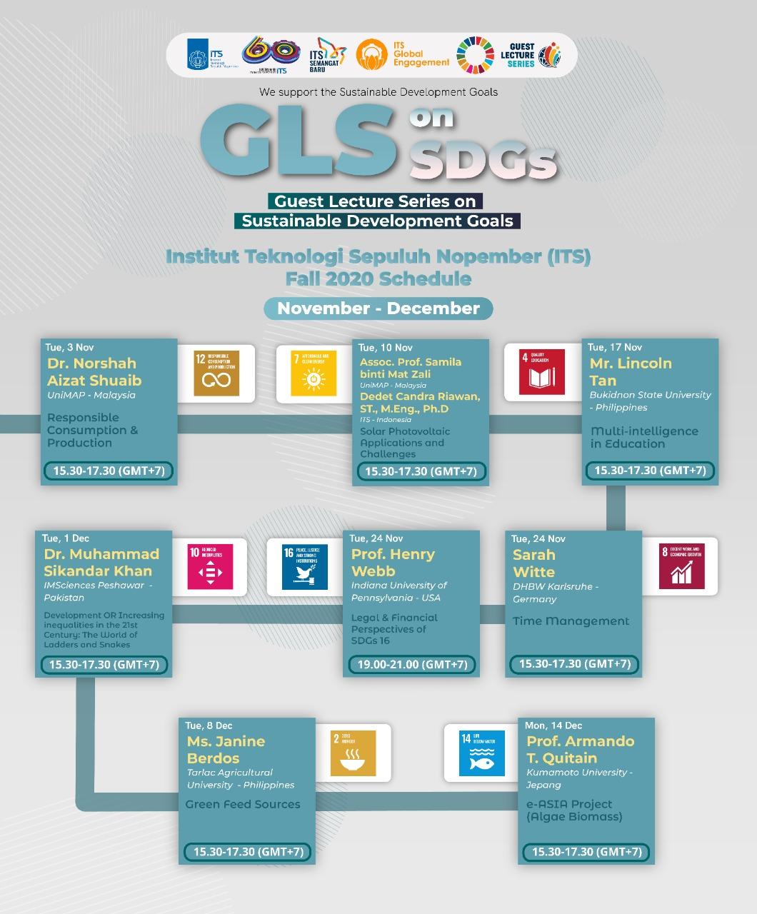 Lectures schedule - November / December