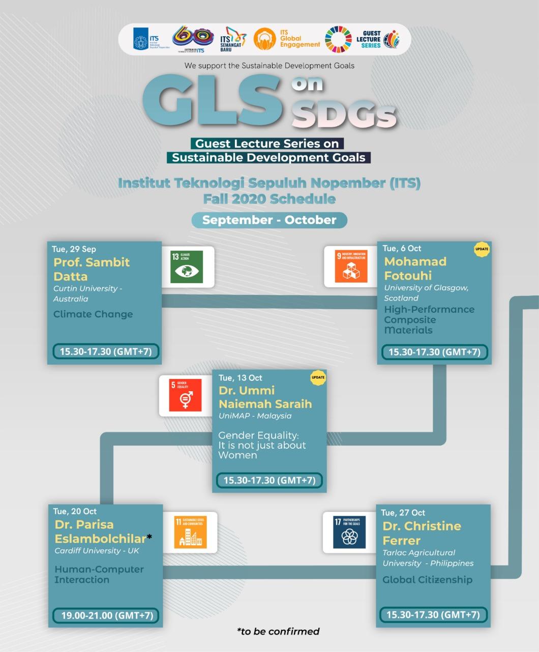 Lectures schedule - September / October