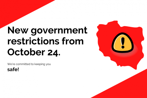 Nwew government restriction from October 24