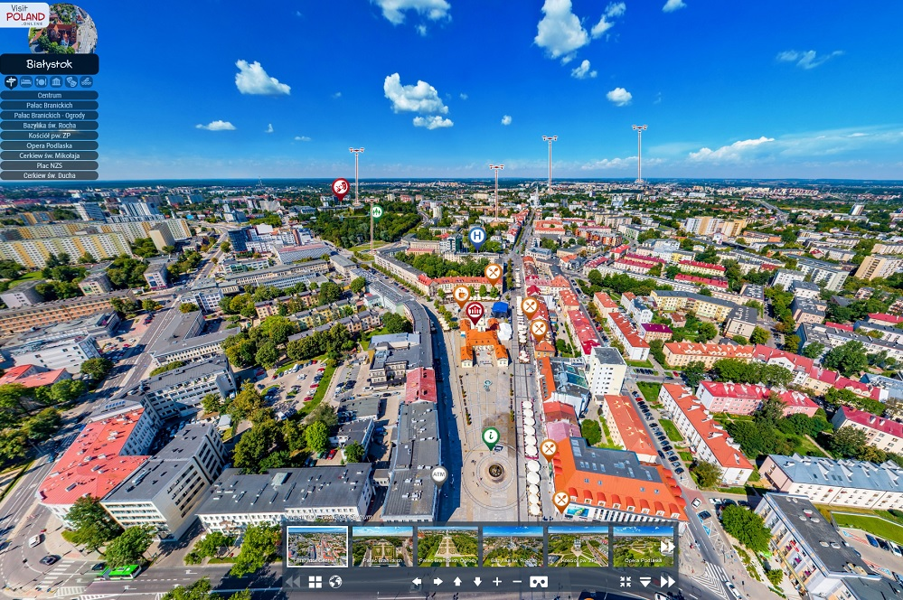 Bialystok virtual tour_panorama of the centre of city