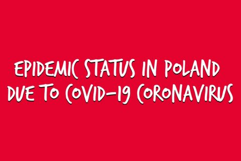 Epidemic status in Poland due to Covid-19 coronavirus