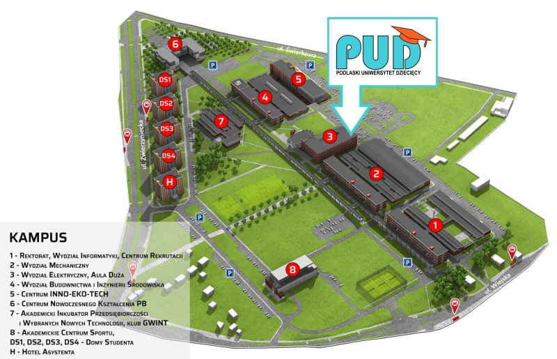 Mapa kampusu PB