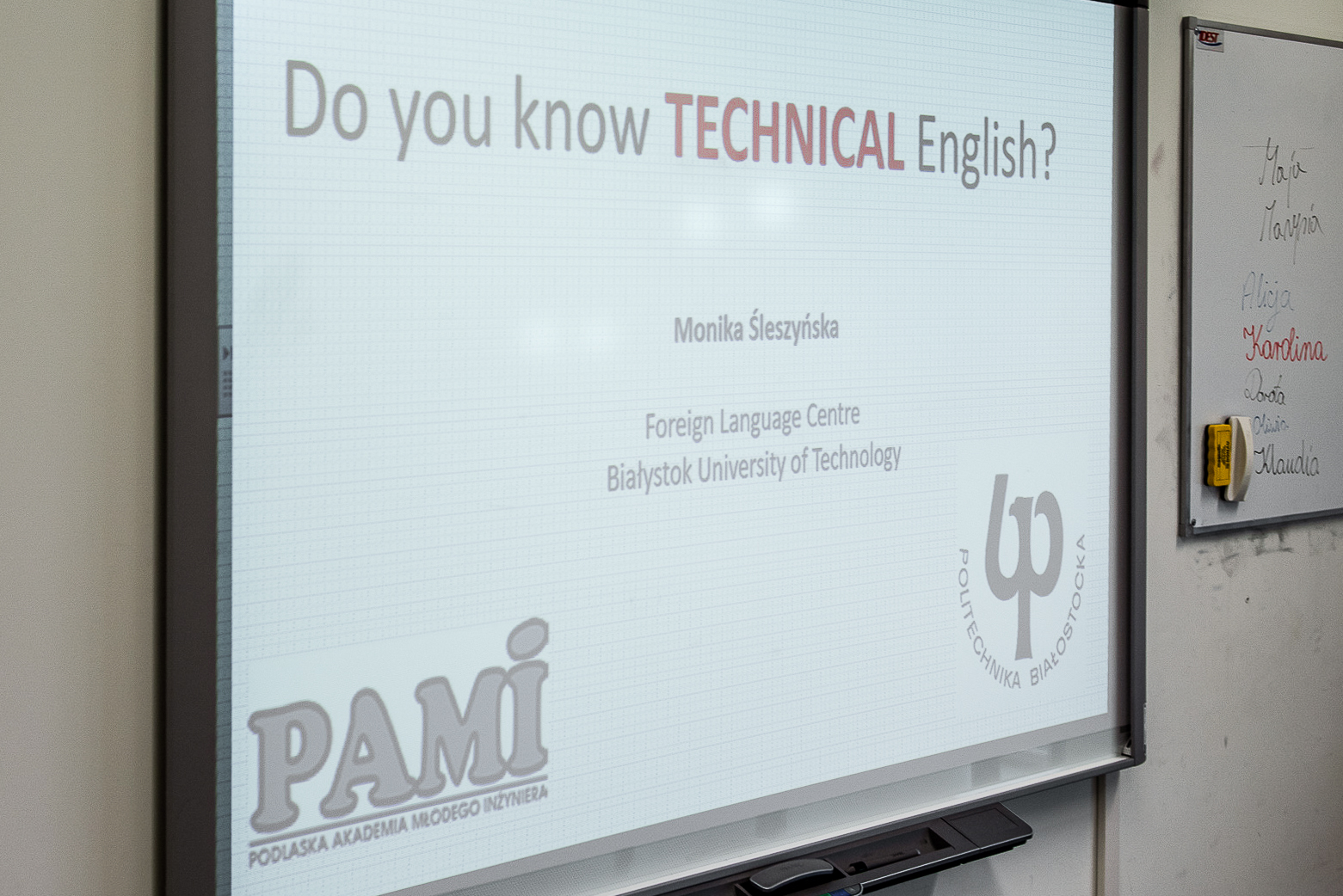 PAMI - Do you know technical English?