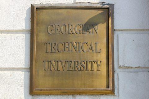 tabliczka z napiszem Georgian Technical University