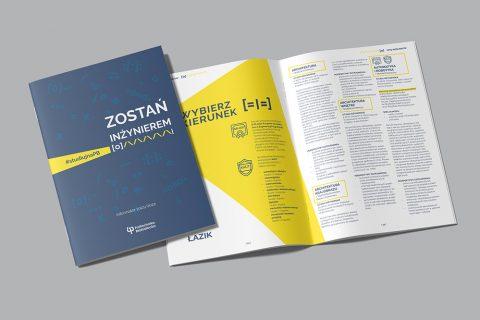 informator dla kandydatów, zdjęcie okładki i broszury otwortej na stronie drugiej