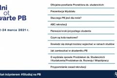 Dni Otwarte Politechniki Białostockiej. Agenda spotkania online