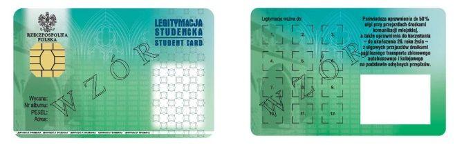 wzór elektronicnej legityacji studenckiej