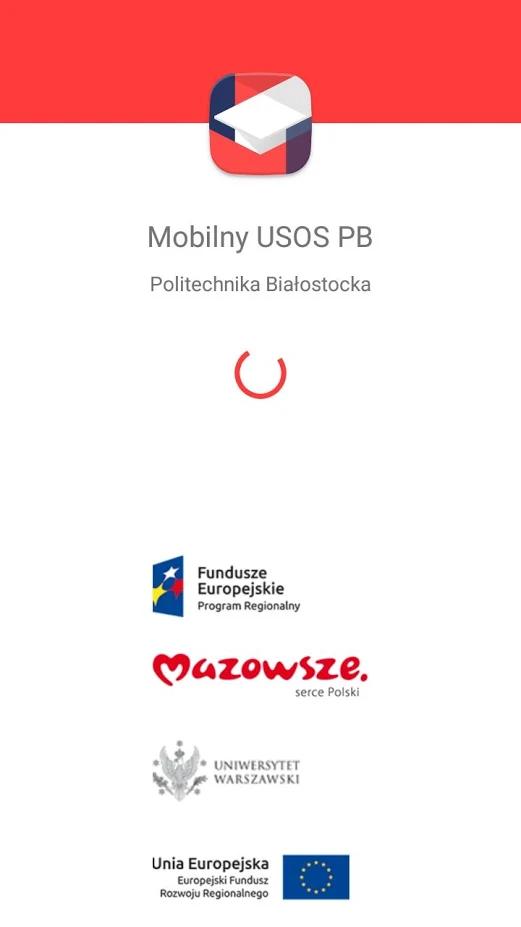 okno logowania aplikacji Mobilny USOS PB