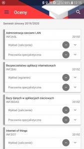 okno oceny aplikacji Mobilny USOS PB