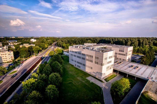widok budynku Biblioteki Politechniki Biaostockiej