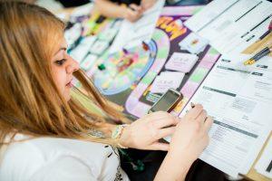 studentka podczas zajęć