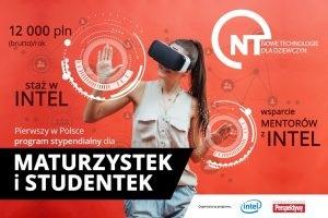 plakat programu Nowe Technologie