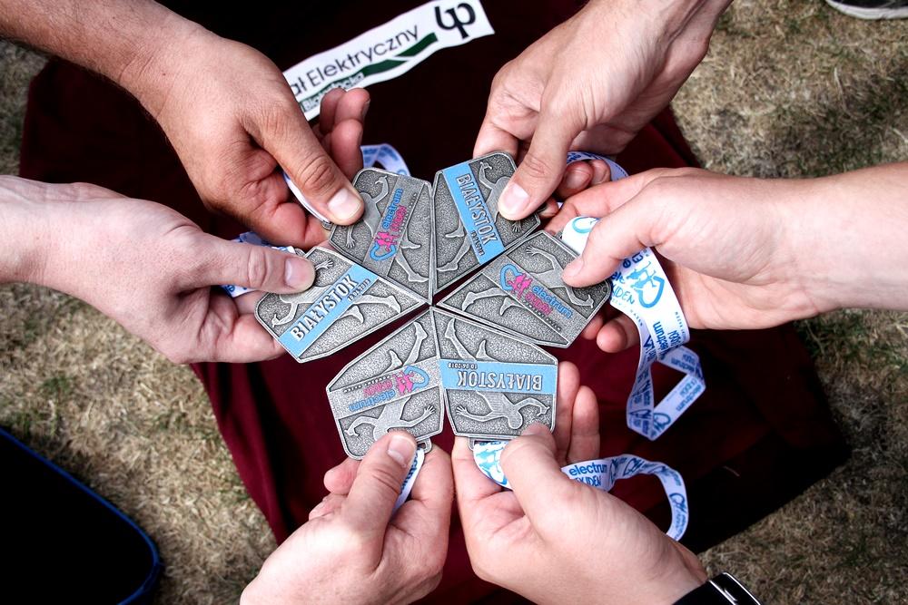 Medale - sztafeta maratońska Electrum Ekiden Pomóżmy Razem!