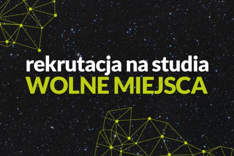 baner reklamujący wolne miejsca w rekrutacji na studia