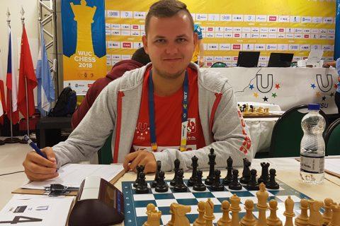 Grzegorz Nasuta, foto: Team Poland - World University Chess Championship, Aracaju 2018