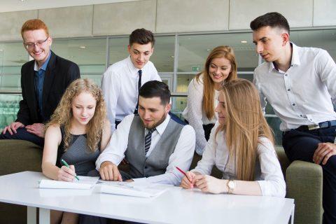 grupa studentów Politechniki Białostockiej