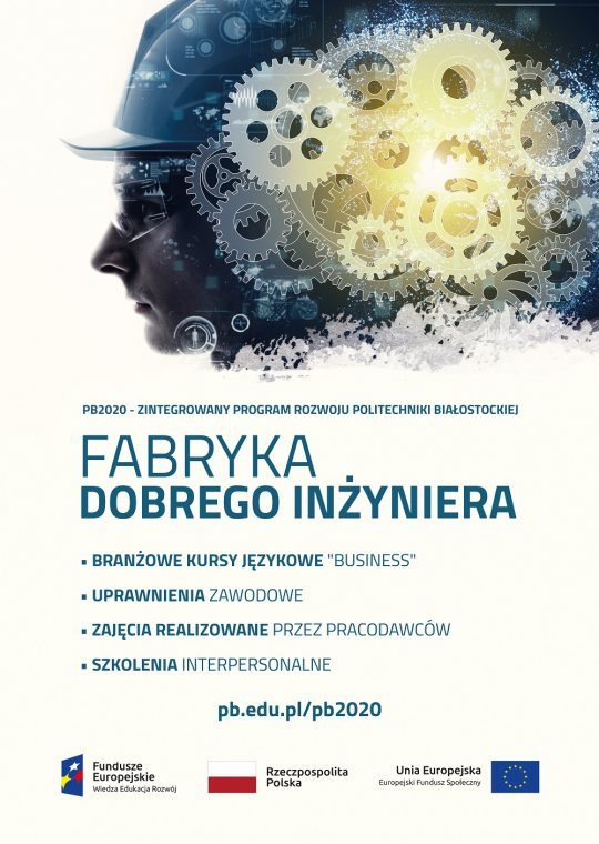 Plakat Profgamu Fabryka dobrego inżyniera