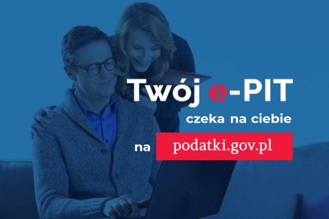 Grafika reklamowa kampanii Twój e-PIT