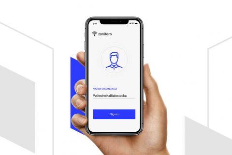 Widok aplikacji ZONIFERO