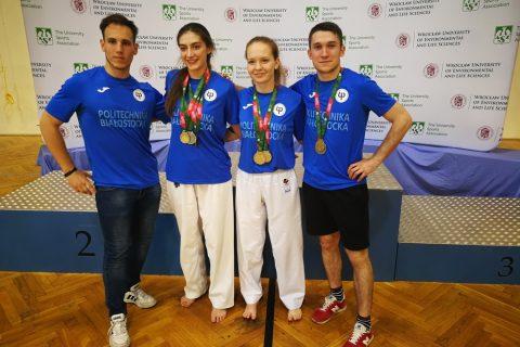 Drużyna Politechniki Białostockiej na AMP w Karate WKF, 25-26 maja 2019 r. Wrocław