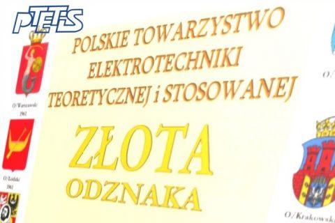 symbol złotej odznaki PTETiS