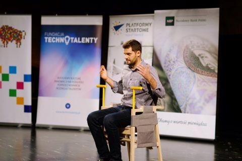 Jan Godlewski podczas prezentacji