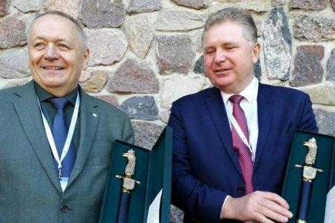 Prof. Dzienis i prof. Bakier