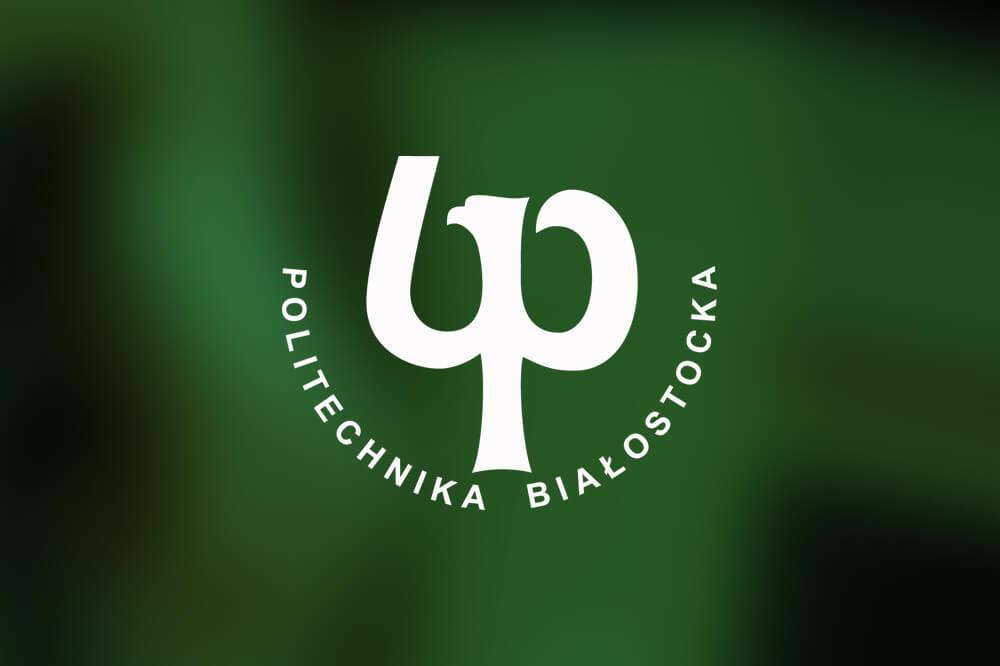 logo Politechniki Białostockiej na zielonym tle