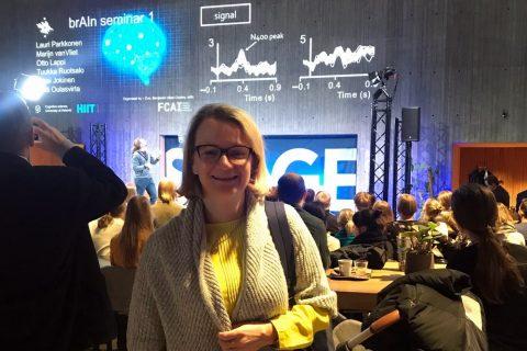na zdjęciu: Prorektor Ejdys podczas wizyty studyjnej na Uniwersytecie w Helsinkach