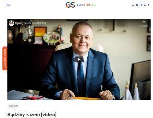 obraz z serwisu Geekstok.pl_kadr z materiału video przedstawia portret prof. Lecha Dzienisa