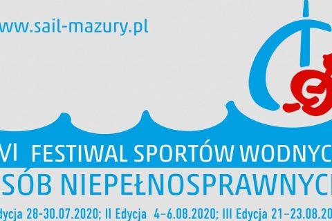 grafika festiwalu sportów wodnych osób niepełnosprawnych