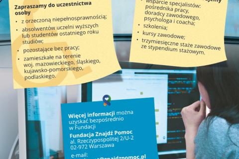 Rekrutacja do projektu przygotowujacego do pracy osoby niepełnosprawne