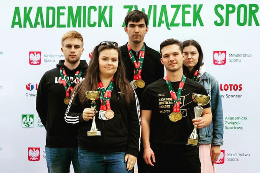 Drużyna PB na podium Akadmickich Mistrzostw Polski w strzelectwie sportowym