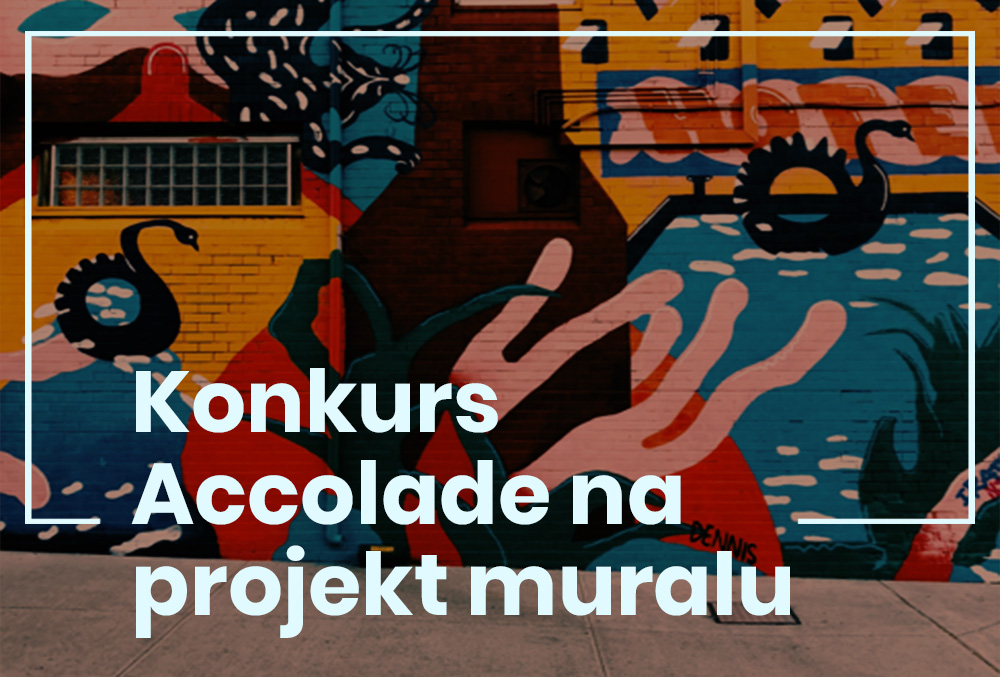 grafika. mural i napis: konkurs Accolade na projekt muralu