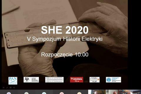 skreen ekranu z rozpoczęcia transmisji obrad V Sympozjum Historii Elektryki