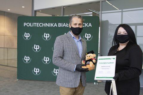 Prof. PB Jarosław Szusta i mgr Marta Tomiczek
