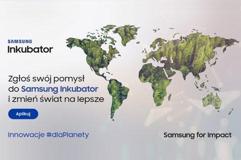 grafika iformacyjna dot. konkursu Samsung Inkubator