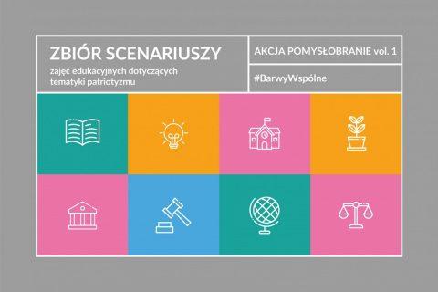 grafika: strona tytułowa publikacji Akcja Pomysłobranie #BarwyWspólne