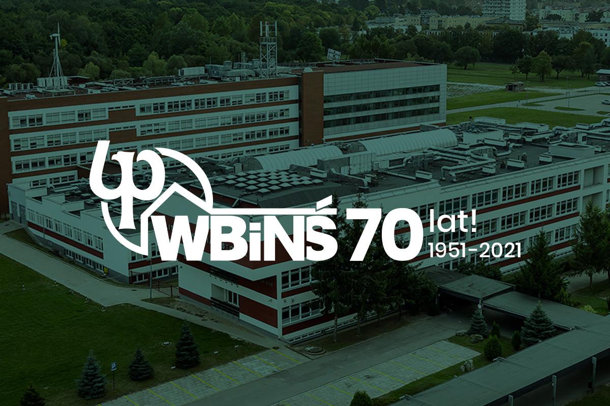 70-lecie WBiNŚ. grafika