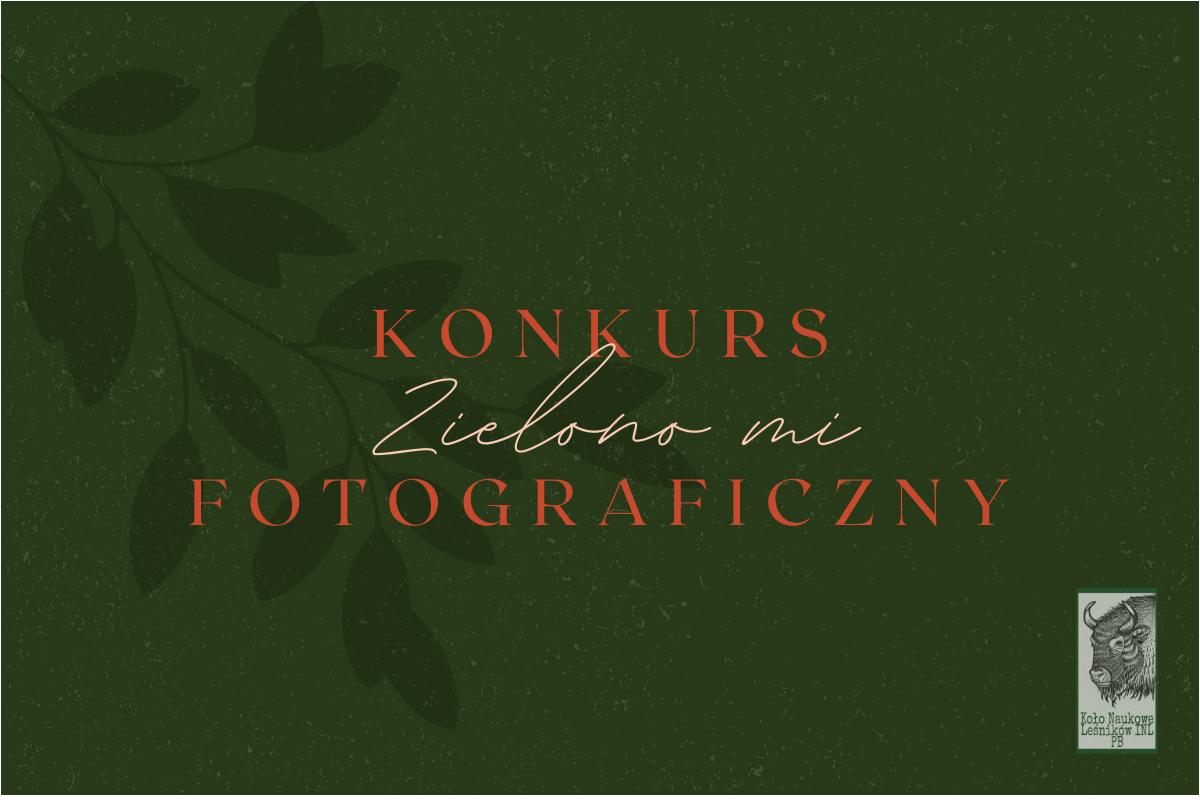 grafika, napisy na zielonym tle