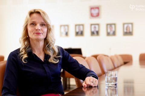 Dziekan Wydziału Inżynierii Zarządzania dr hab. inż. Katarzyna Halicka, prof. PB