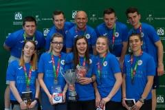 Drużyna sekcji badmintona KU AZS Politechniki Białostockiej